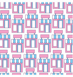 store building front pattern background vector image