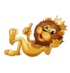 A king lion vector image