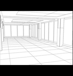A modern interior room vector