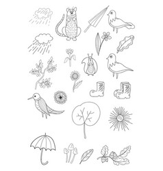 a set of design elements for relaxing and vector image