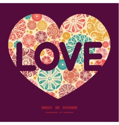 abstract decorative circles love text frame vector image