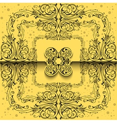 Abstract ornament background vector image
