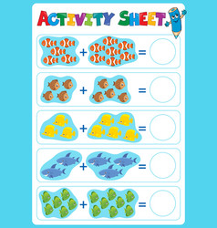 Activity sheet topic image 5 vector