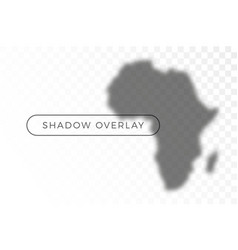 africa world map shadow realistic grey decorative vector image