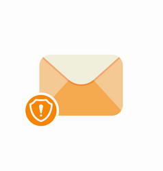 attention email envelope guard mail safety icon vector image