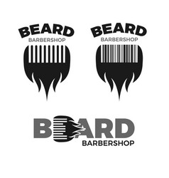 barbershop logo set vector image