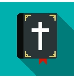 Bible single flat icon vector image