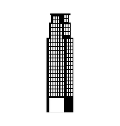big building silhouette icon vector image
