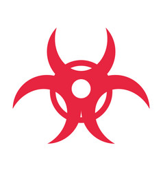 Biohazard risk sign vector