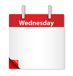 Blank wednesday date vector