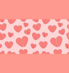 Broken heart seamless pattern vector