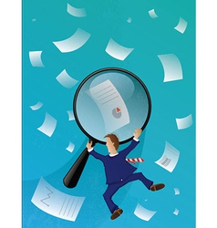 Business papers seas vector
