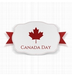 Canada day label with ribbon vector