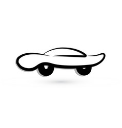 car vintage symbol icon vector image