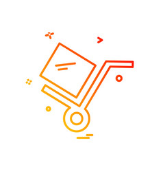 cart icon design vector image