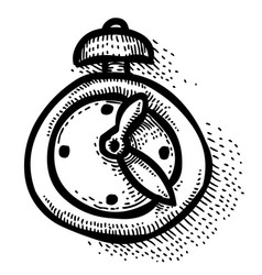 Cartoon image of clock icon time symbol vector