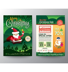 Christmas sale Brochure Flyer design Layout vector image