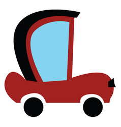 clipart an old model car in red and black vector image