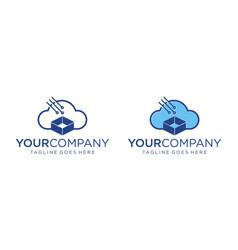 Cloud technology logo design editable vector