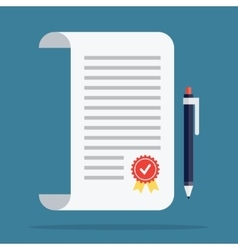 Contract icon in a flat style vector image