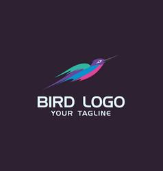 creative hummingbird logo concept design templates vector image