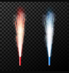 Creative of firework fountain vector