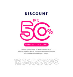 Discount up to 50 off limited time only template vector