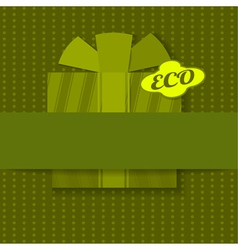 Eco background with gift vector