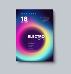 electronic music festival poster design vector image