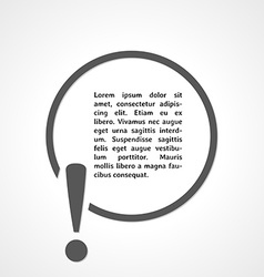 exclamation mark and circle vector image