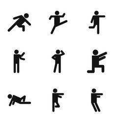 Exercise icons set simple style vector