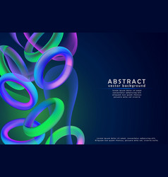 Fashion art abstract colorful shape 3d vector