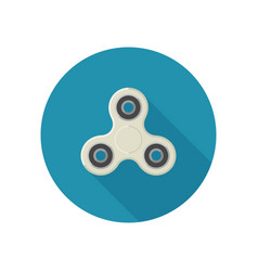fidget spinner in flat style vector image