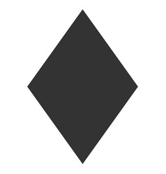 Filled rhombus flat icon vector