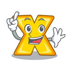 Finger multiply sign icon isolated on mascot vector