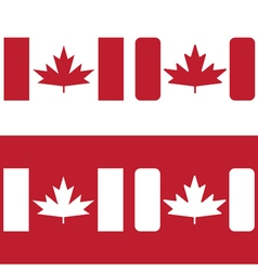 flag of canada red maple leaf design template vector image