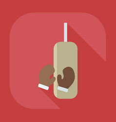 Flat modern design with shadow icon punching bag vector