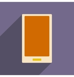 Flat with shadow icon and mobile applacation vector