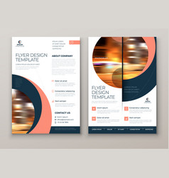 flyer with minimal geometric design modern vector image