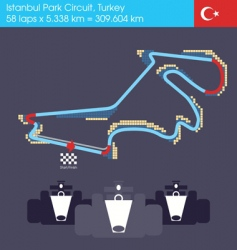 Formula 1 turkey circuit vector