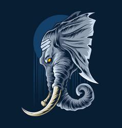 Ganesha elephant head looks very majestic vector
