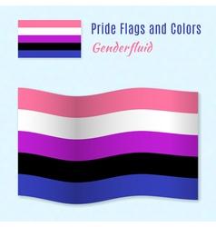 Genderfluid pride flag with correct color scheme vector image