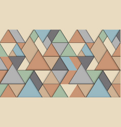geometric abstract background with triangles 3d vector image