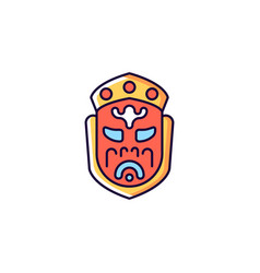 Ghost mask museum red rgb color icon vector