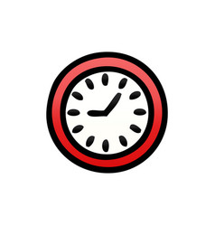 gradient shaded cartoon wall clock vector image