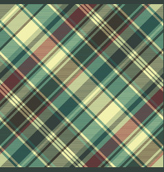 Green red plaid check fabric texture seamless vector