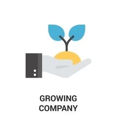 growing company icon concept vector image