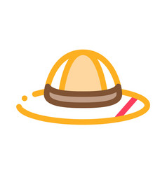 hat icon outline vector image