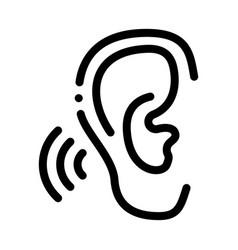 Hears sound icon outline vector