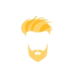 Hipster Male Hair and Facial Style With Full vector image